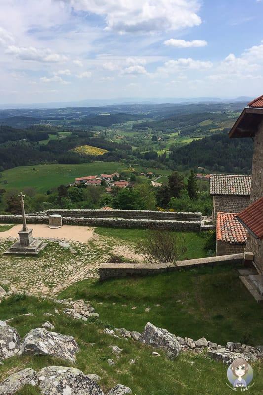 Blick von der Aussichtsplattform in Montarcher