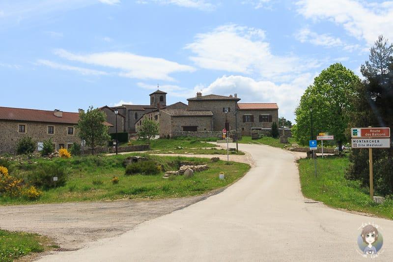 Bergdorf Montarcher in der Loire Frankreich
