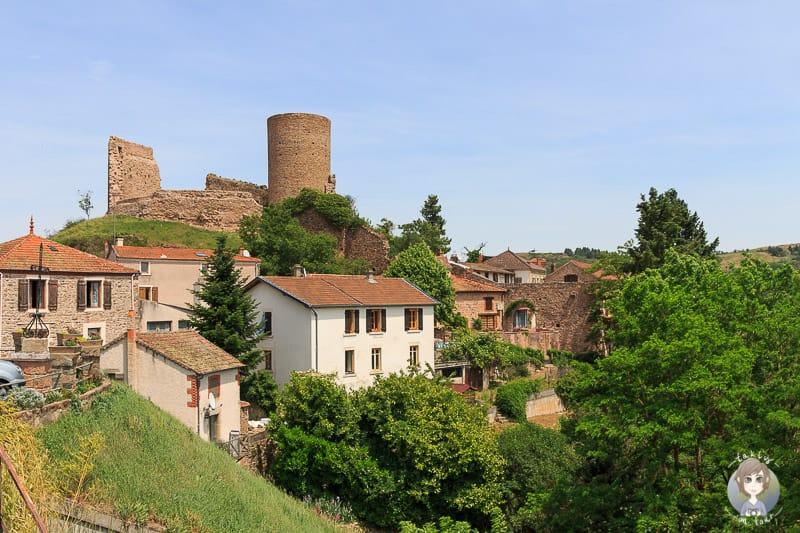 Das Château und das Dorf von Saint Maurice an der Loire