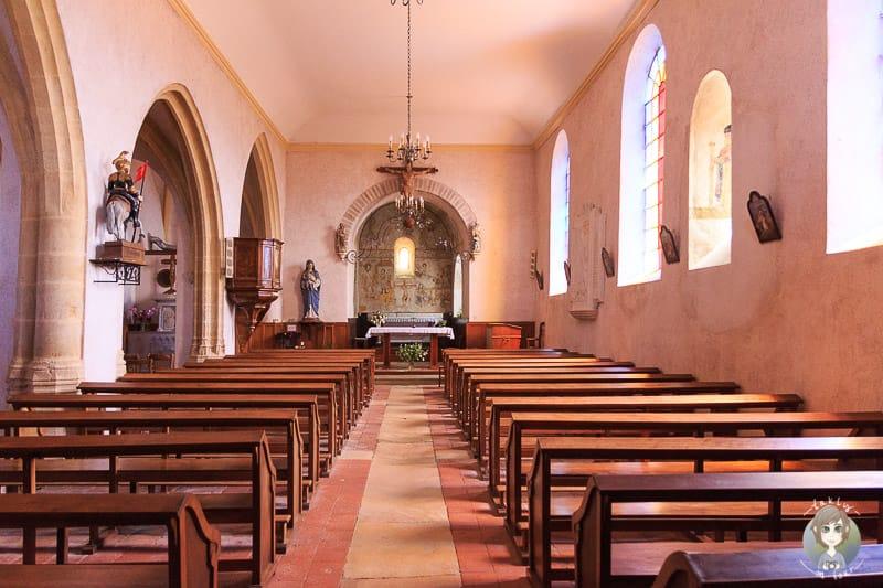 Eglise de Saint-Maurice im Village de caractere en Loire