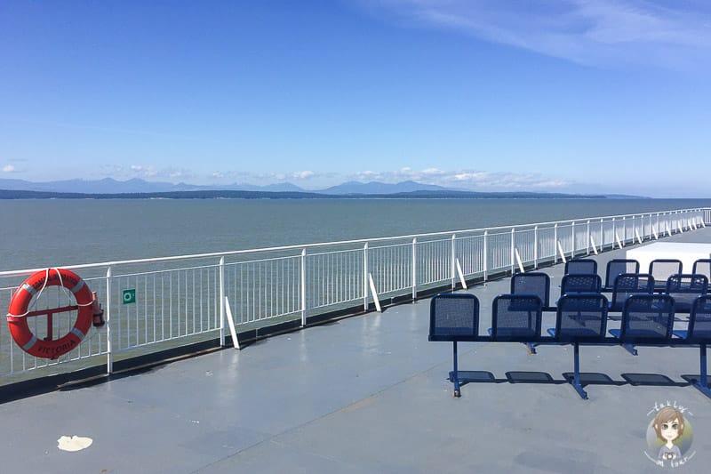 An Deck der Fähre von Vancouver Island
