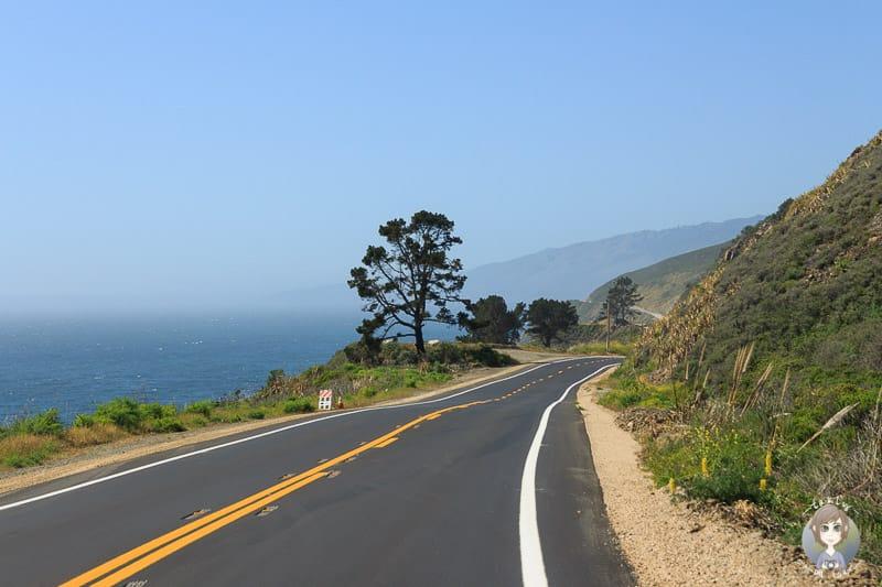 Fahrt über den Highway 1 in Kalifornien