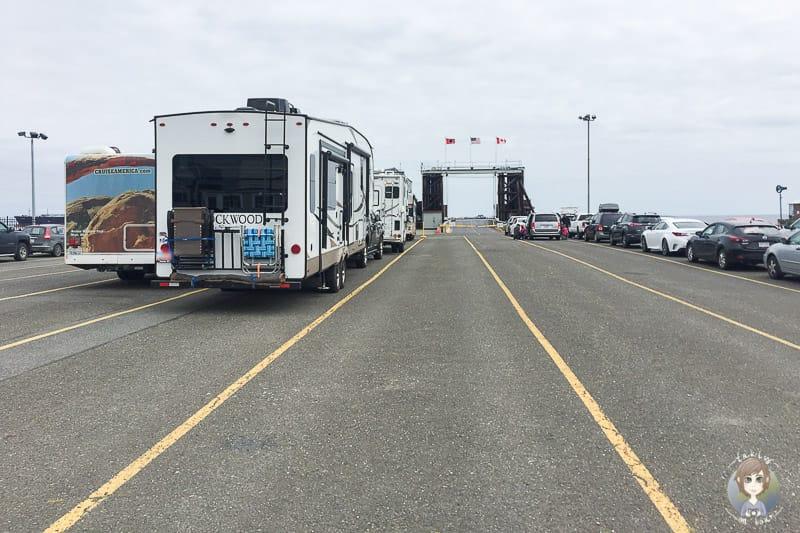 Fahrt über die Grenze mit der Fähre nach Vancouver Island