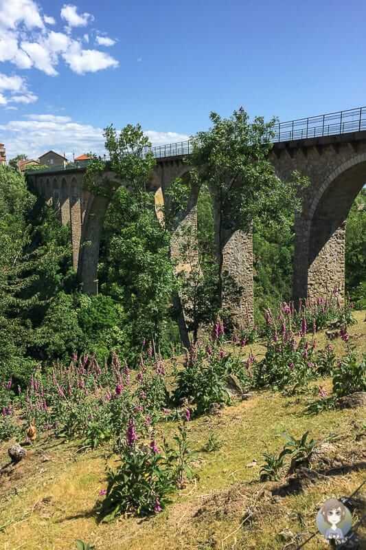 Viaduct von Pelussin in Frankreich