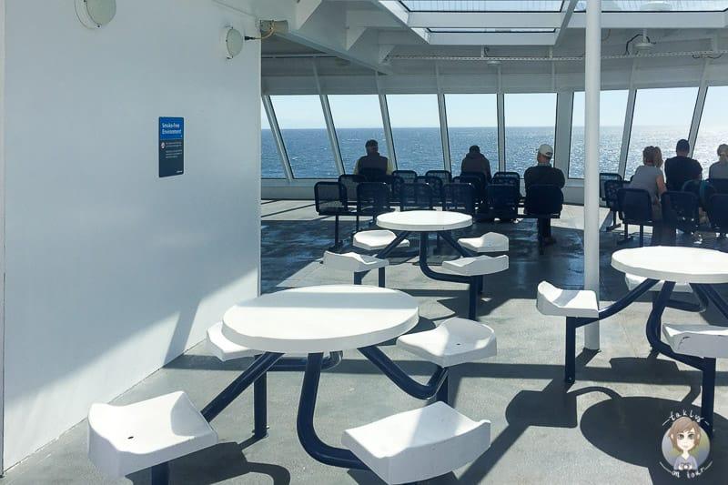 Viewing Deck auf der Vancouver Island Fähre