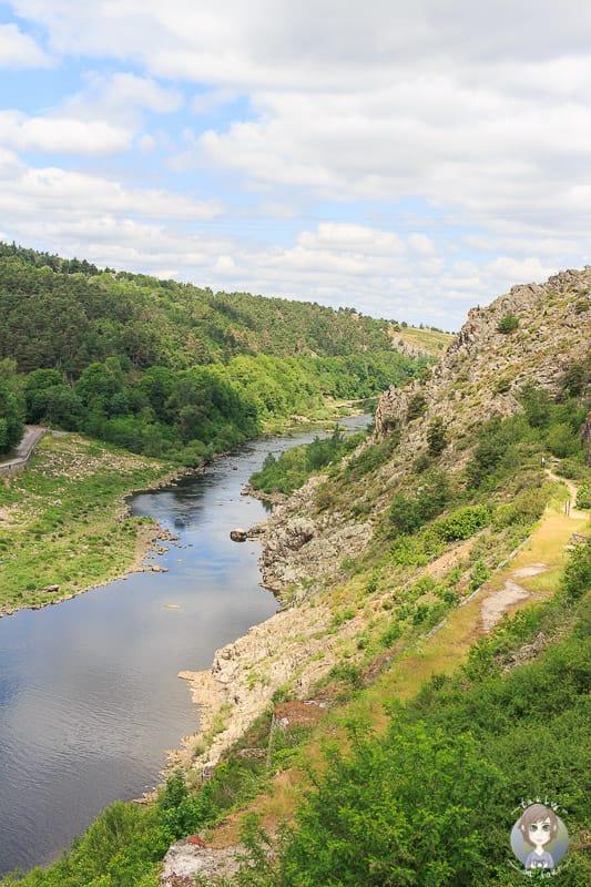 Wilde Landschaft der Loire