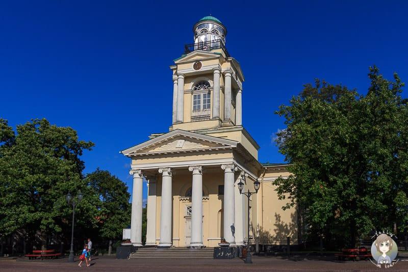 Blick auf die Kirche in Ventspils auf unserer Baltikum Rundreise
