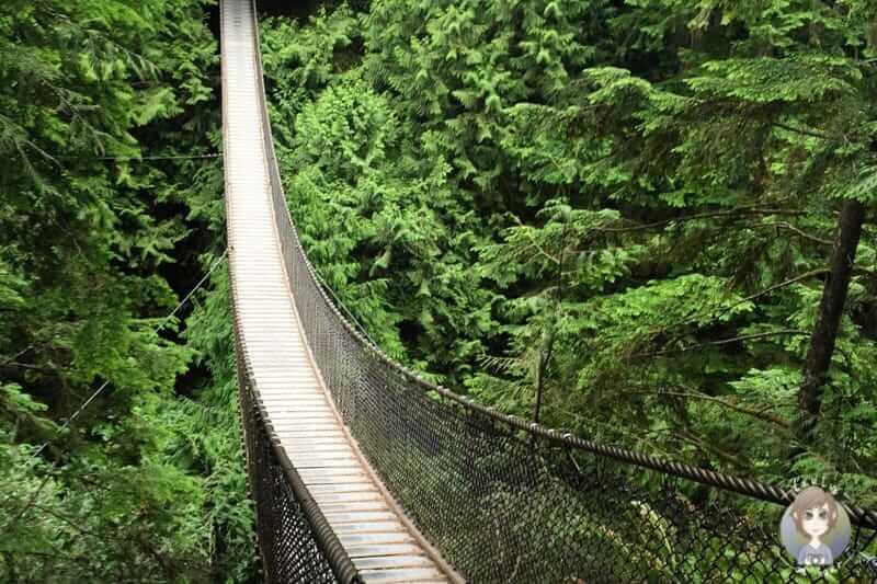 Die Lynn Canyon Bridge ist eine etwas weniger bekannte Vancouver Sehenswürdigkeit