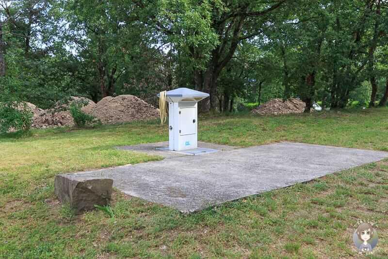 Abwasser auf dem Campingplatz Bel Epoque du Pilat