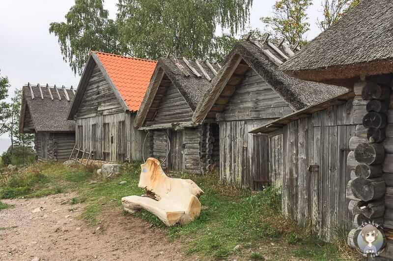 Fischerhäuser in Altja im Lahemaa National Park auf unserer Baltikum Rundreise