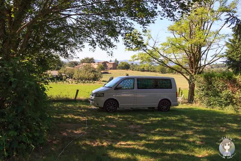 Camper auf dem Campingplatz Bel Epoque du Pilat