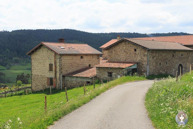 Schmale Strassen in Frankreich in der Auvergne-Rhone-Alpes