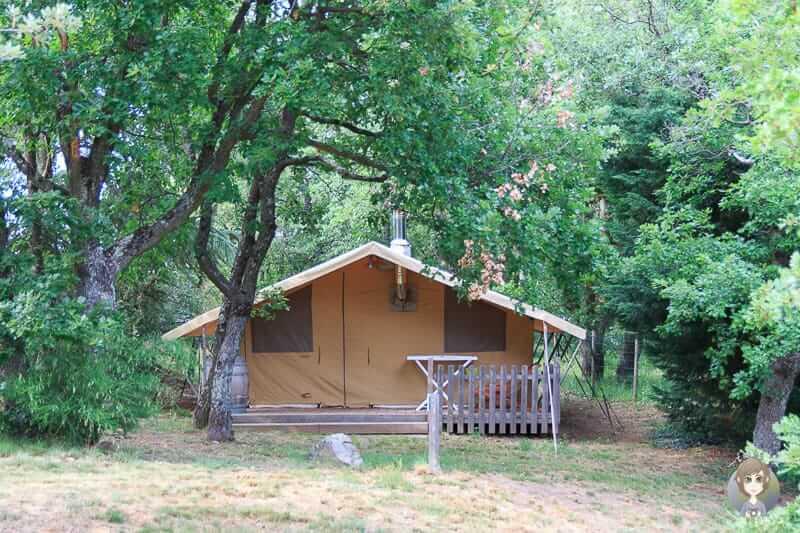 Safarizelt Campingplatz in Pelussin-Frankreich