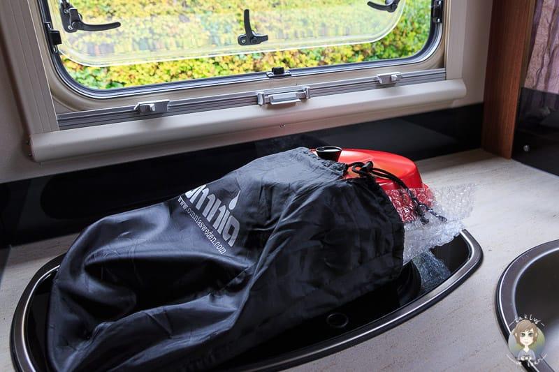 Transporttasche für Omnia Ofen beim Camping