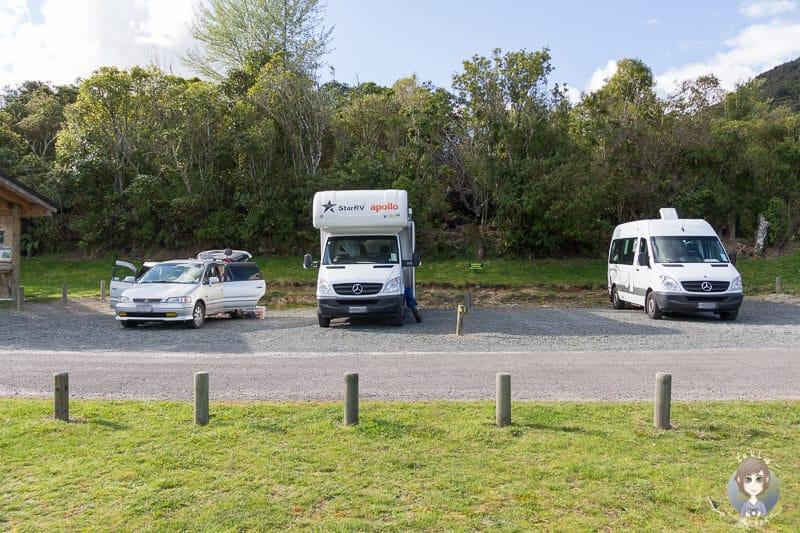Richtige Fahrzeuggrösse beim Camper mieten in Neuseeland