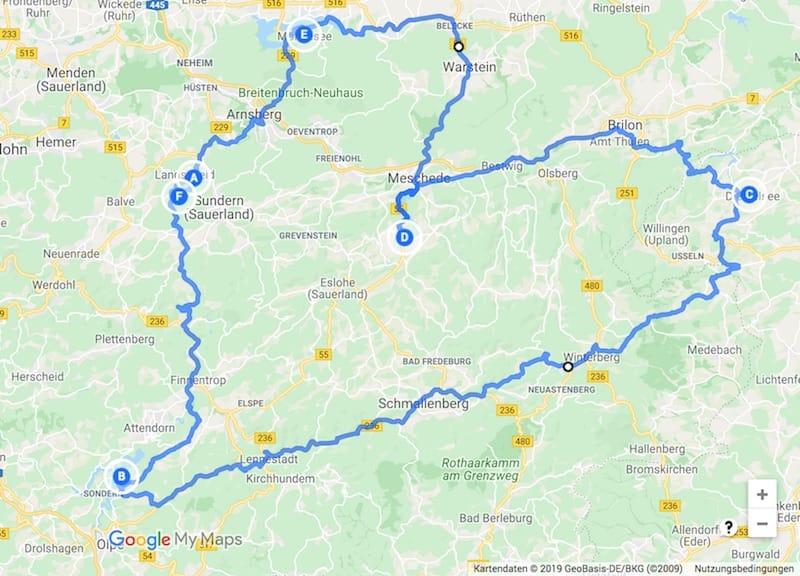 Wohnmobil-Tour entlang der Sauerland Seen