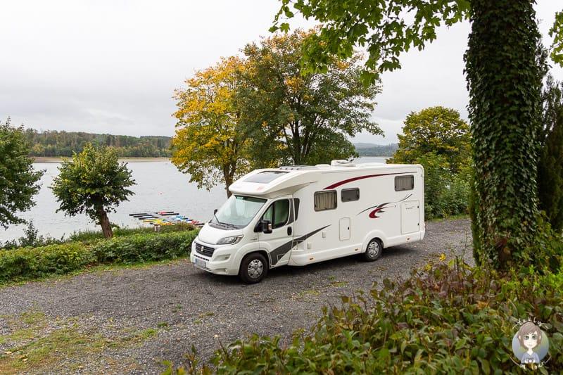 Camping im Sauerland auf dem Wohnmobilstellplatz Möhnesee