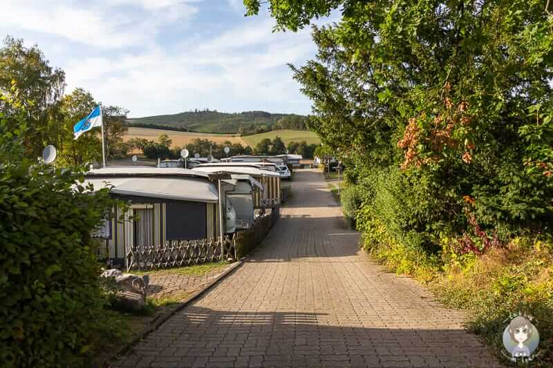 Dauercamper am Diemelsee im Sauerland