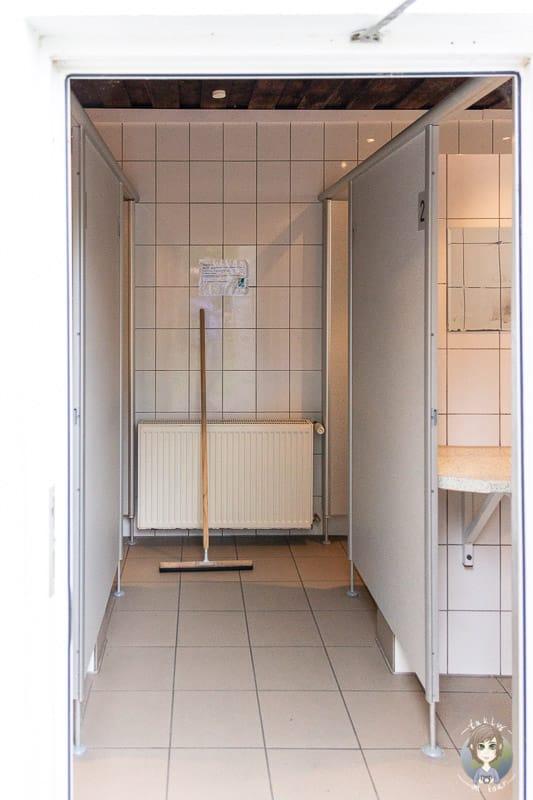 Duschen auf dem Wohnmobilstellplatz Möhnesee im Sauerland