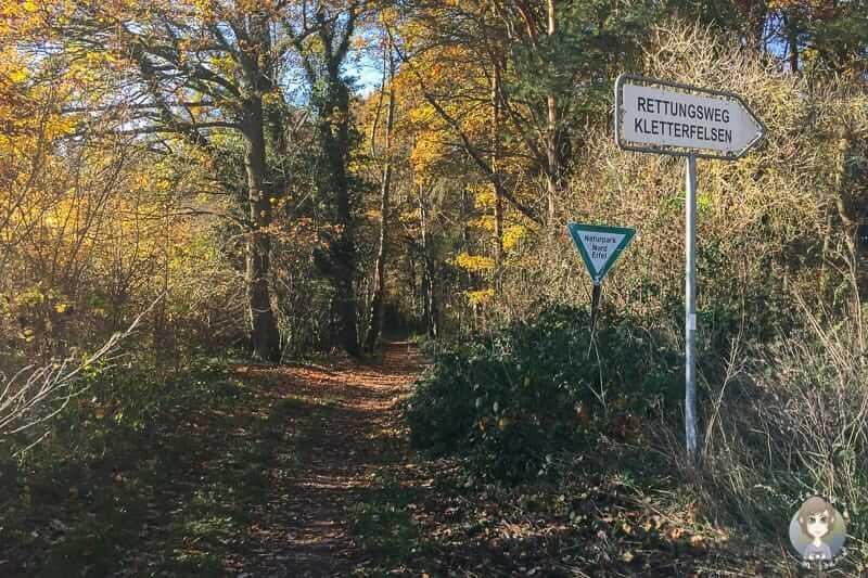 Einstieg in Nideggen zum wandern der Buntsandsteinrunde