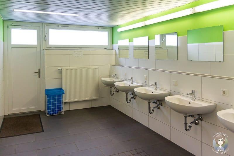 Sanitäranlagen vom Campen am Damm am Sorepsee im Sauerland