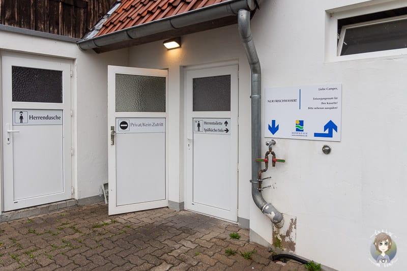 Sanitäranlagen beim Möhnesee Camping im Sauerland