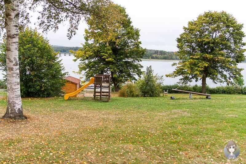Spielplatz Wohnmobilstellplatz Möhnesee beim Camping im Sauerland