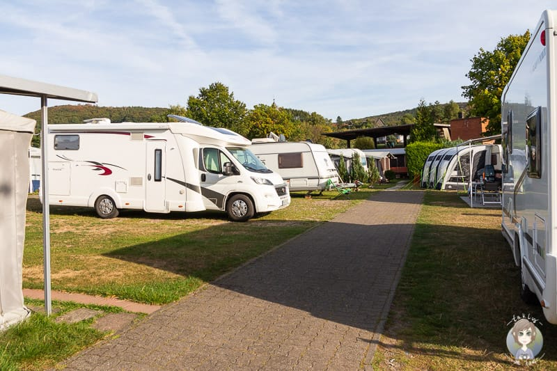 Stellplatz auf dem  Diemelsee Camping im Sauerland