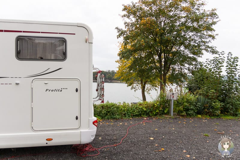 Strom Wohnmobilstellplatz Möhnesee beim Camping im Sauerland