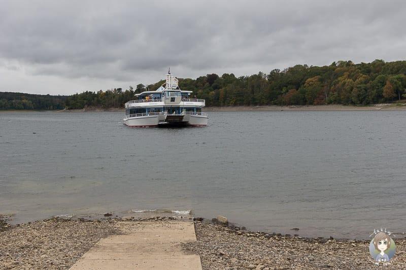 Schifffahrt am Möhnesee in Delecke