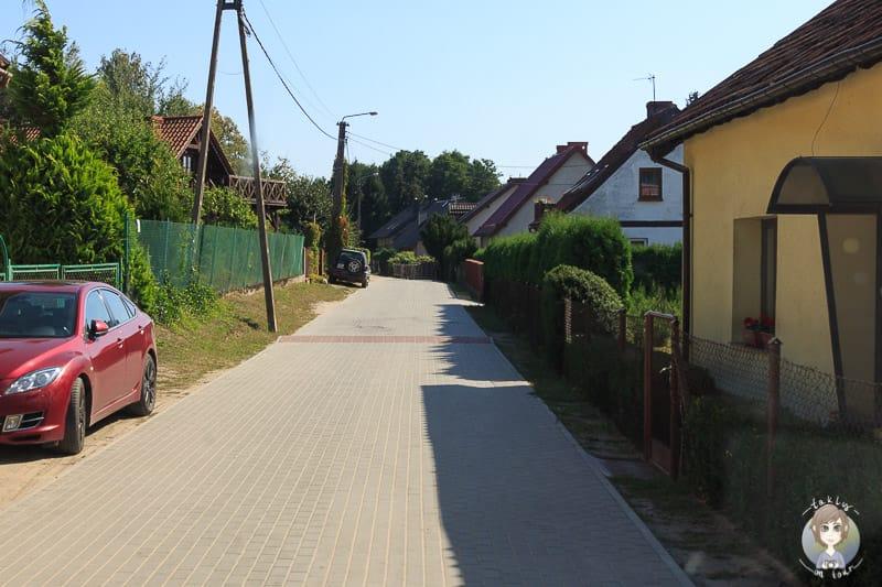 Anfahrt zum WoMo Stellplatz in Pelnik Polen