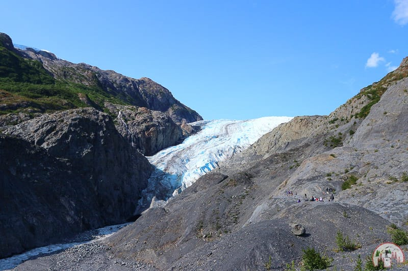 Ausblick auf dem Exit Glacier Overlook Trail nahe Seward in Alaska