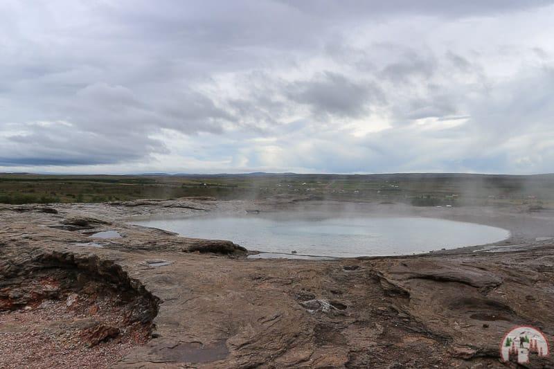 Geysir im Haukadalur Thermalgebiet am Golden Circle Island