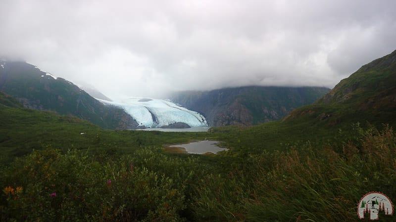 Panorama auf den Portage See und Gletscher in Kenai Alaska