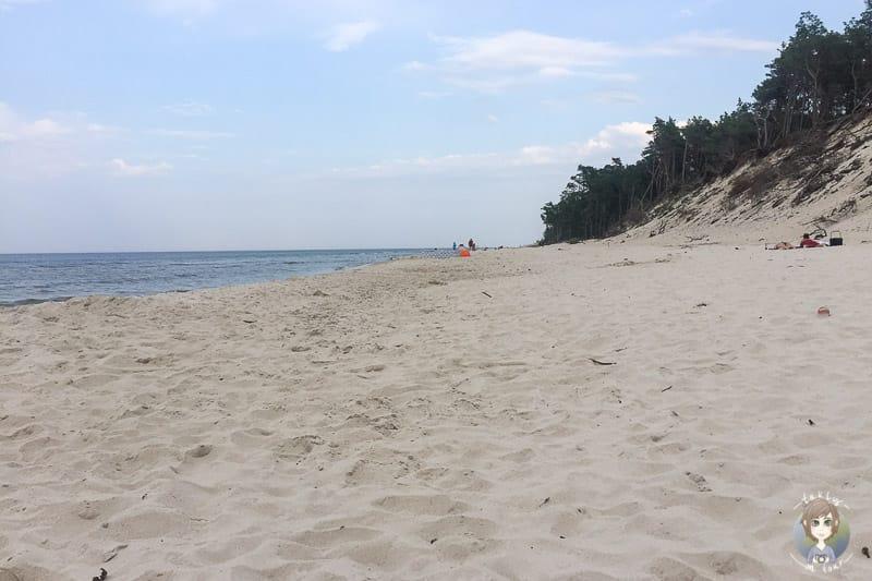 Strand nahe Krokowa in Polen an der Ostsee