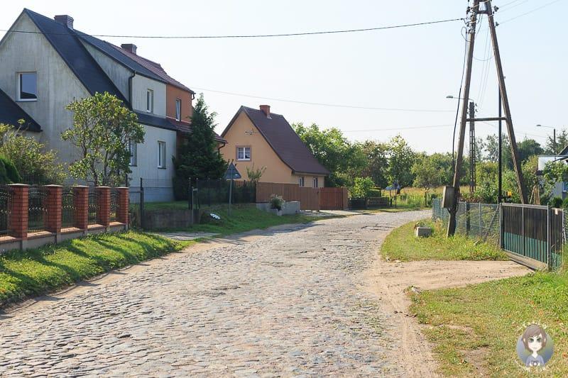 Landstrasse auf dem Weg von Polen nach Litauen