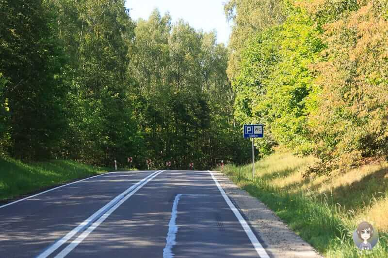 Parkplatz auf der Strecke Polen Litauen sind selten