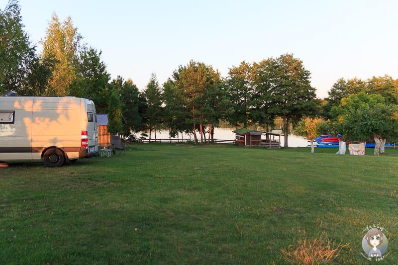 Seezugang am Wigry Campingplatz U Haliny