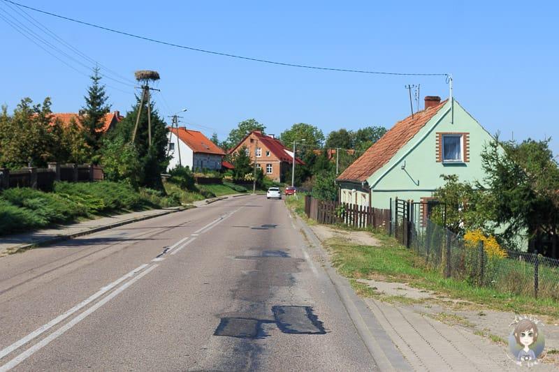 Strassenverhältnisse auf dem Landweg in Baltikum