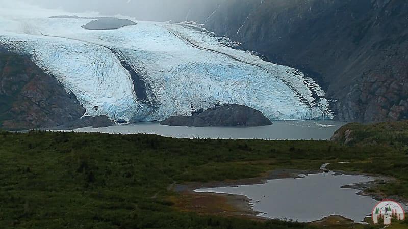 Der gigantische Portage Gletscher