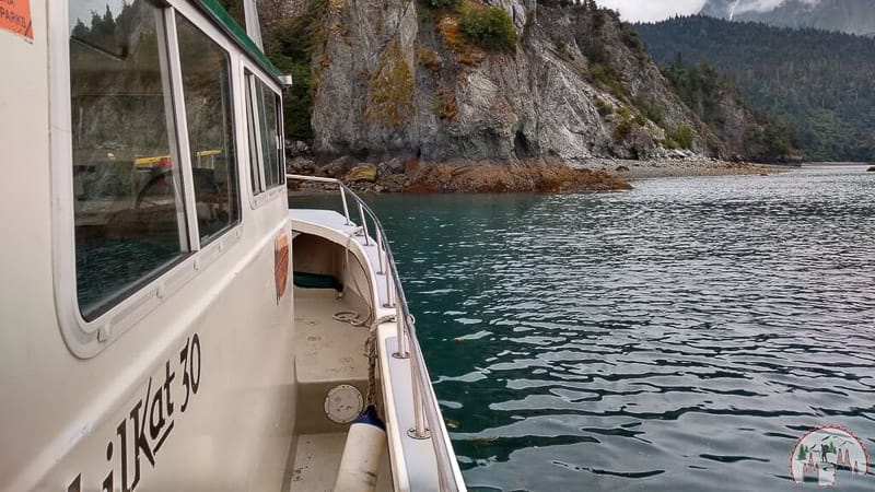 Wassertaxi Richtung Halibut Cove auf Kenai Alaska