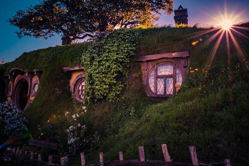 Herr der Ringe Hobbiton Abend