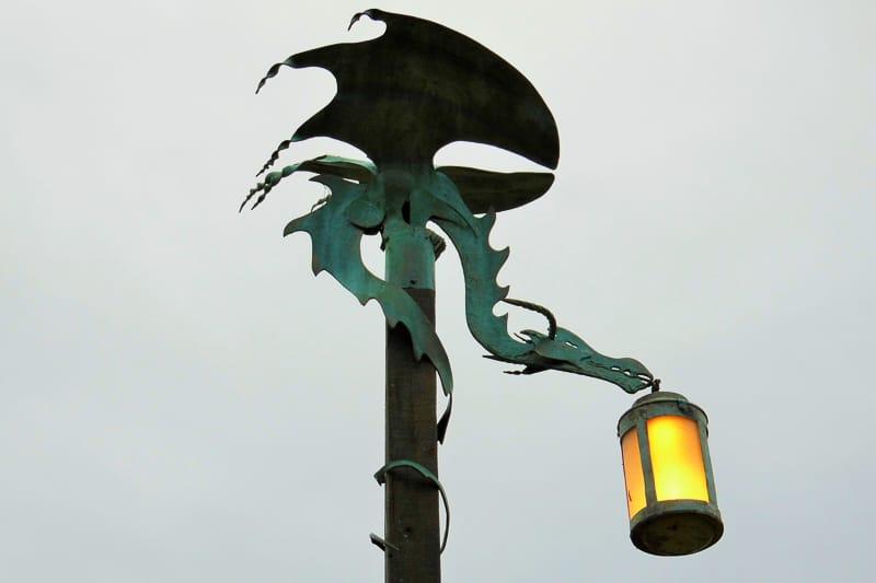 Laterne in Matamata bei Hobbiton in Neuseeland