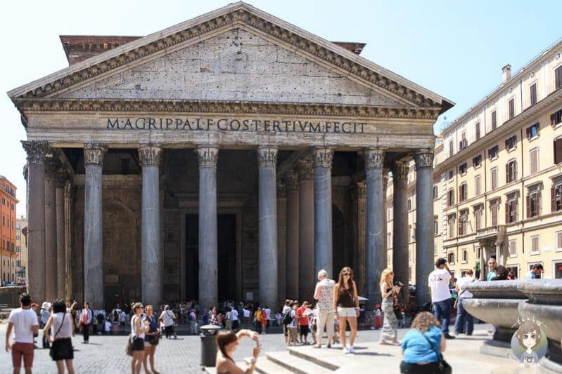 Eine der Top Rom Sehenswürdigkeiten das Pantheon
