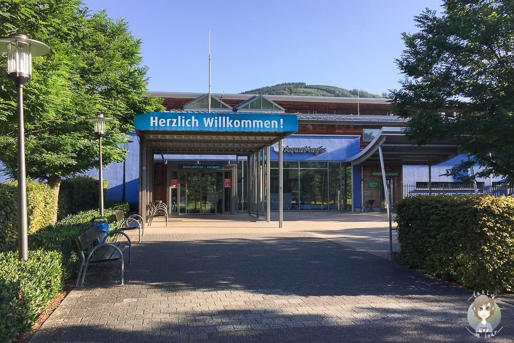 Der AquaMagis Plettenberg Eingang