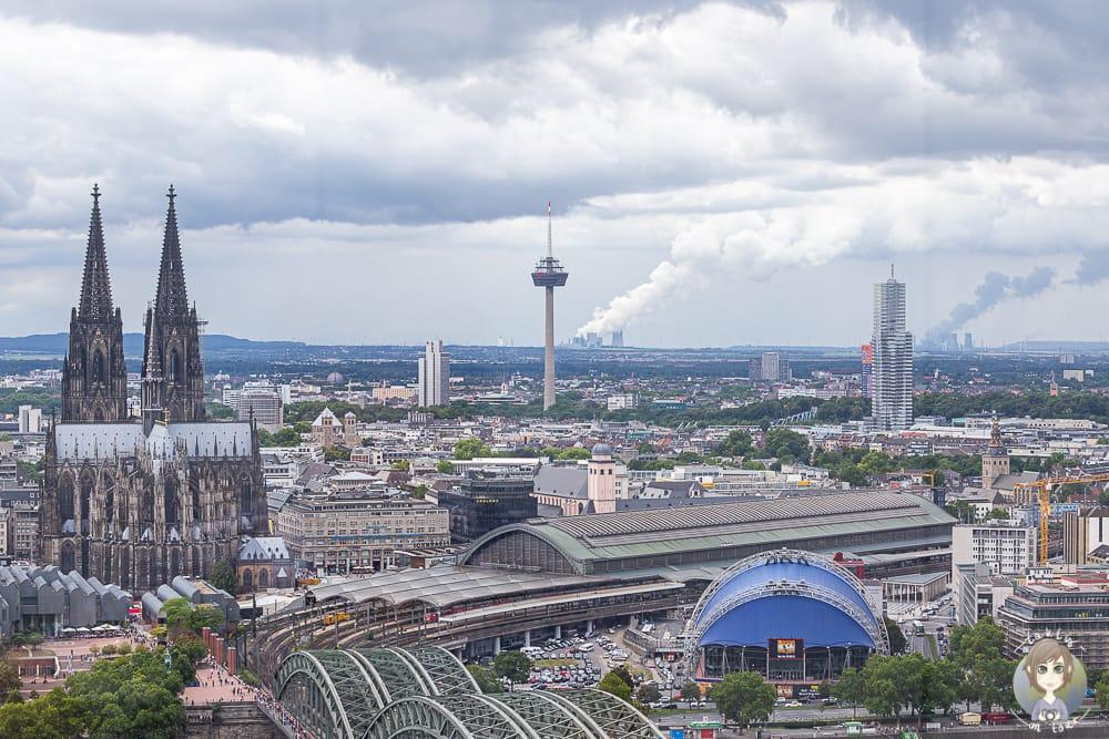 Stadtansicht von der Aussichtsplattform Köln