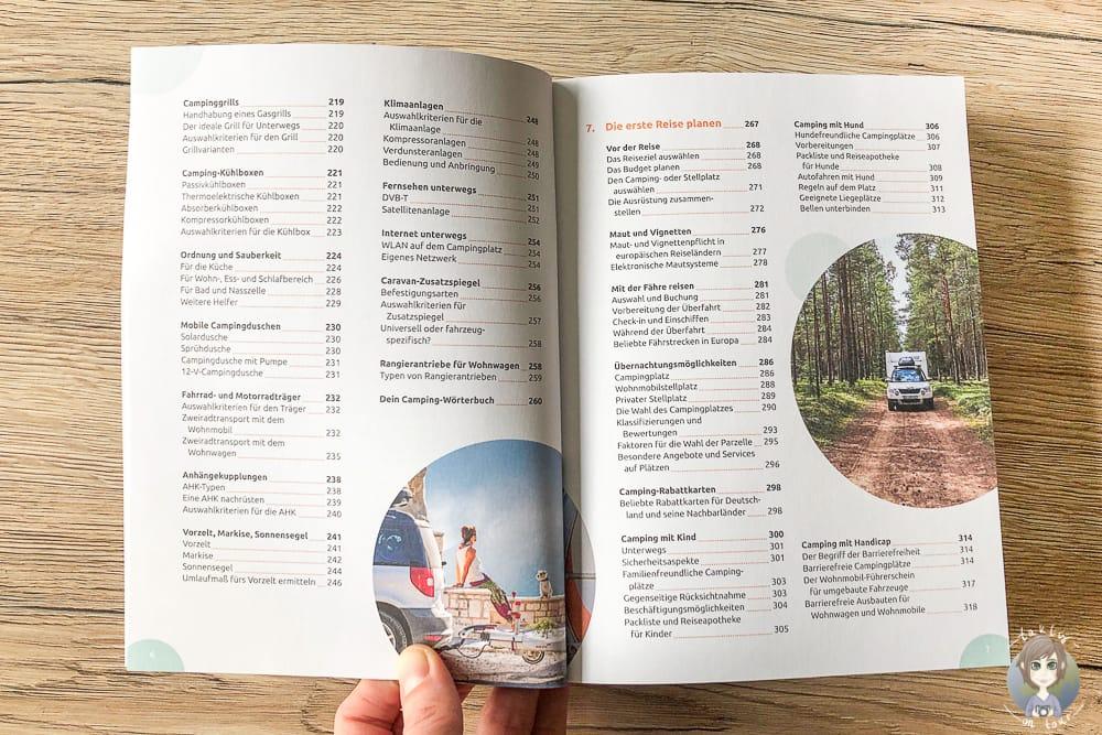Inhaltsverzeichnis im Handbuch mit Camping für Anfänger Tipps
