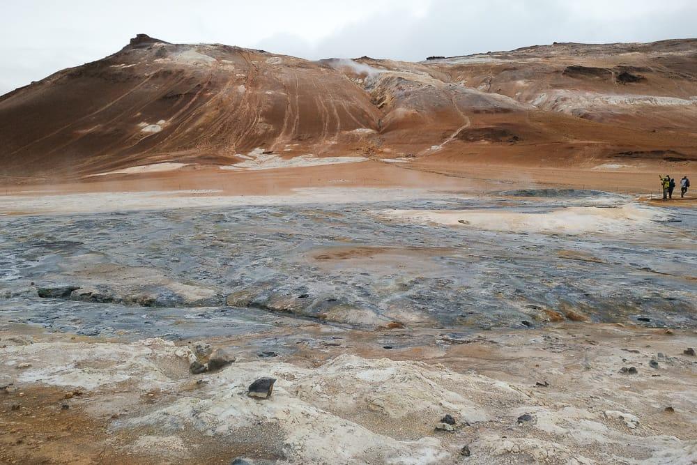 Hverir Geothermalgebiet Islands Norden