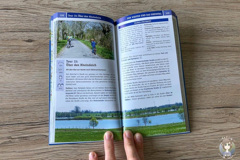 Innenteil vom Buch Grüne Oasen im Ruhrgebiet mit Unternehmungen