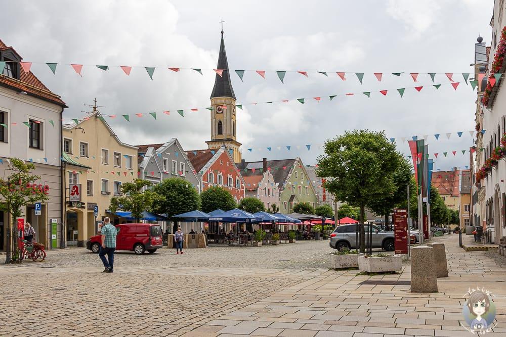 Der Marktplatz von Kelheim